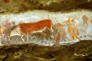 Bushman rock art at Kambergs Game Pass shelter