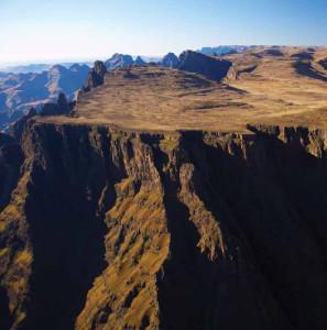 Sentinel peak overlooks Royal Natal National Park