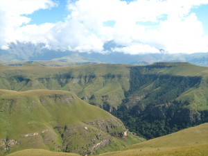 Mikes Pass at Cathedral Peak in the Central Drakensberg Mountains