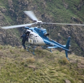 helicopter rescue in the Drakensberg Mountains
